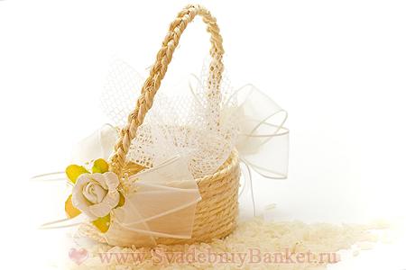 Украшение свадебных корзин