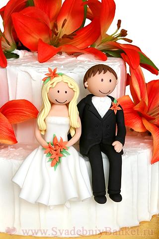 Прикольные свадебные торты из мастики фото