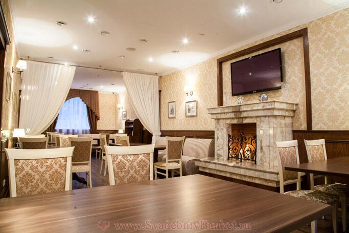 Каминный зал ресторана Русское Подворье
