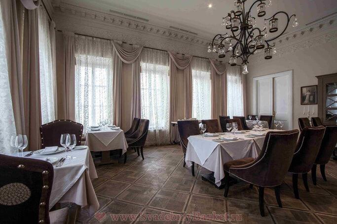 Каминный зал ресторана Гусятникофф