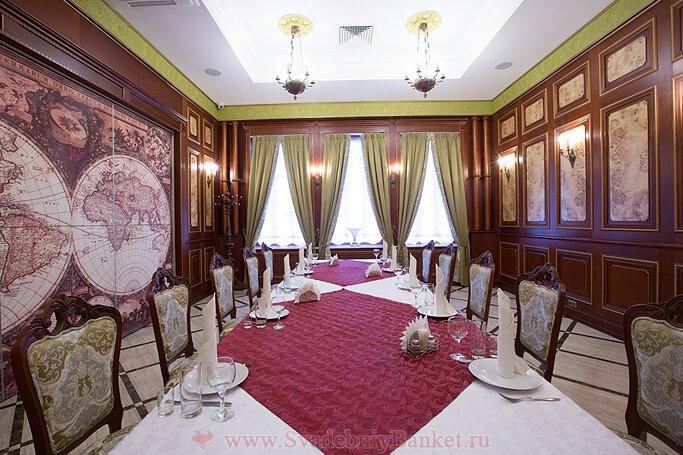 Малый банкетный зал Черчиль бара-ресторана Постскриптум