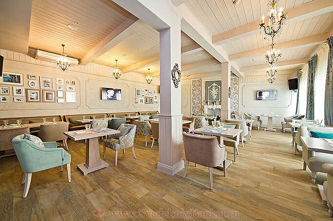 Каминный зал ресторана Вилладжио