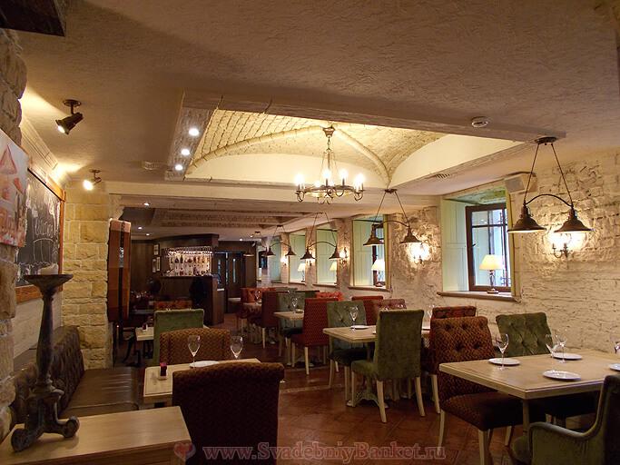 Зал Прованс ресторана Шато Бобров