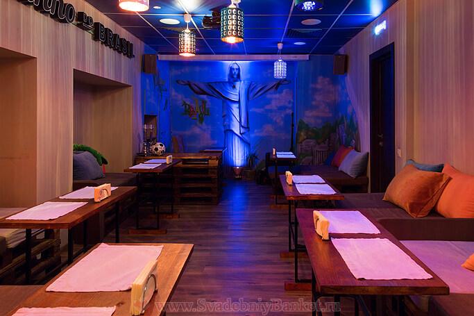 Нижный зал кафе Бразилия