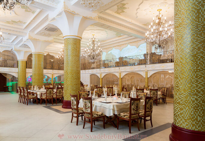 Зал ресторана Белое золото