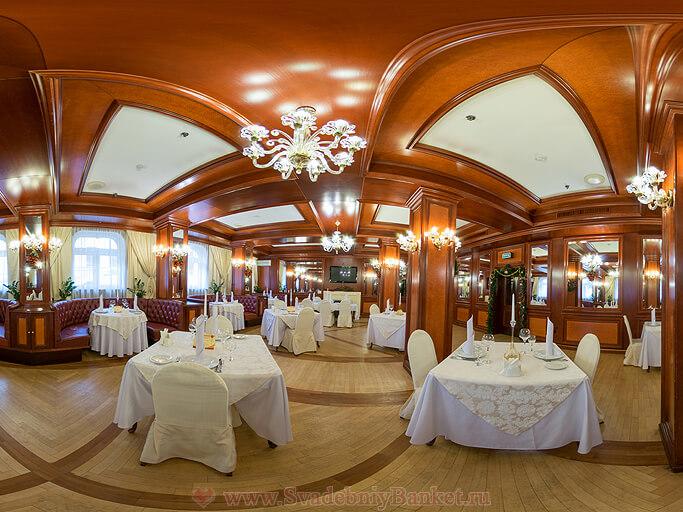 Банкетный зал ресторана в гостинице Отель на Казачьем